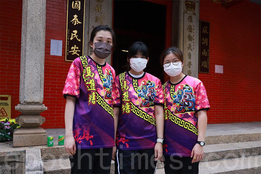 香港恒生大學社會科學系亞洲研究學生參與活動。(陳仲明/大紀元)