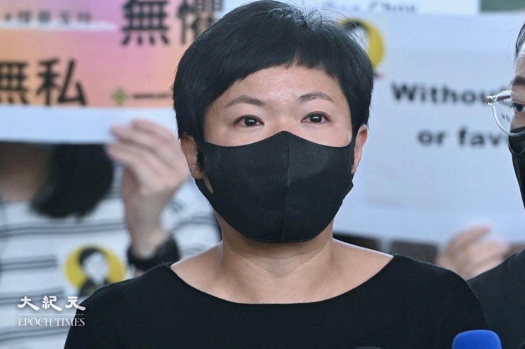 蔡玉玲今日(5日)在Facebook表示,已委託律師就查冊案提出上訴。資料圖片。(宋碧龍/大紀元)