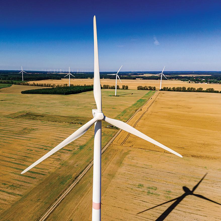 綠色能源也叫清潔能源,是指不排放污染物的能源,例如風力發電(上圖) 太陽能發電(下圖)。(wikipedia)