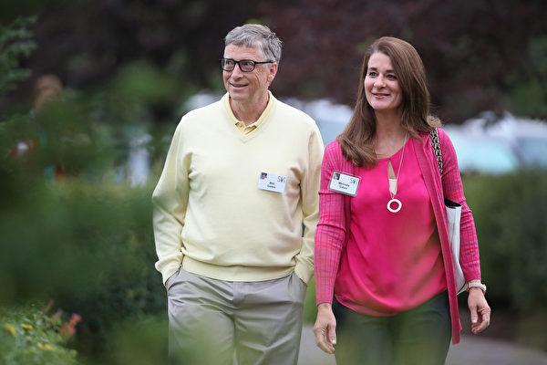 2021年5月3日,微軟(Microsoft)創辦人比爾·蓋茨(Bill Gates)與梅琳達·蓋茨(Melinda Gates)宣佈離婚。圖為蓋茨夫婦資料照。(Scott Olson/Getty Images)
