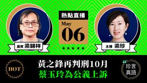 【珍言真語】梁錦祥:黃之鋒再判刑10月  蔡玉玲為公益上訴