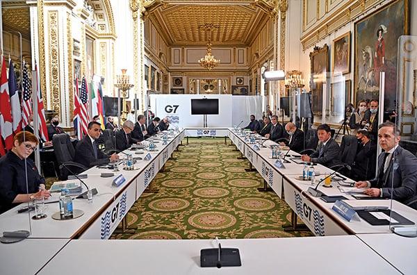七國集團(G7)外長峰會 譴責中俄霸凌 關注台海局勢