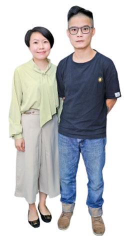 AGEMO品牌主理人Janet(左)和Matt(右)。(陳仲明/大紀元)