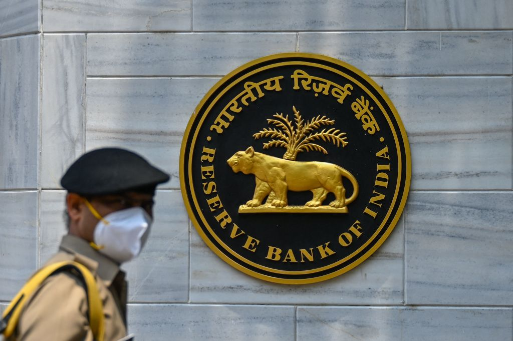 印度今(5月7日)公佈外匯儲備按周增加0.67%至5,880億美元。(PUNIT PARANJPE/AFP via Getty Images)