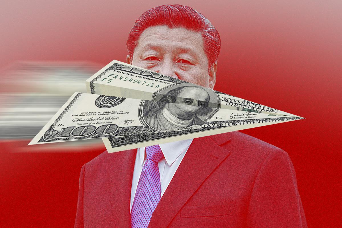 硬傷難過,美第一大基金管理公司撤離中國;特斯拉提前償清中國貸款,要撤退?沃爾瑪一口氣關掉6家店,逃離前奏?(大紀元製圖)