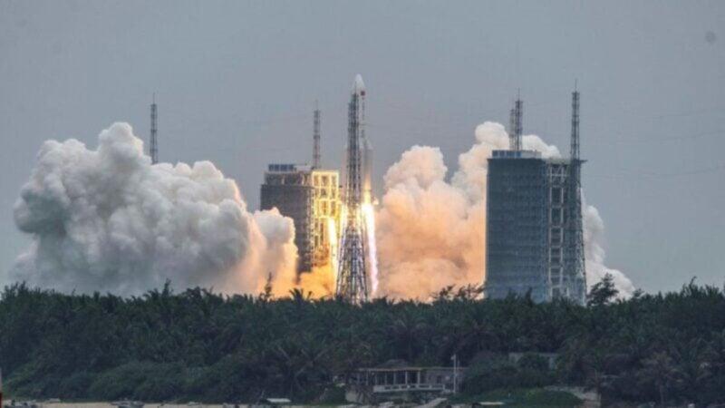 中共長征火箭殘骸畫面曝光 不排除砸朝鮮半島