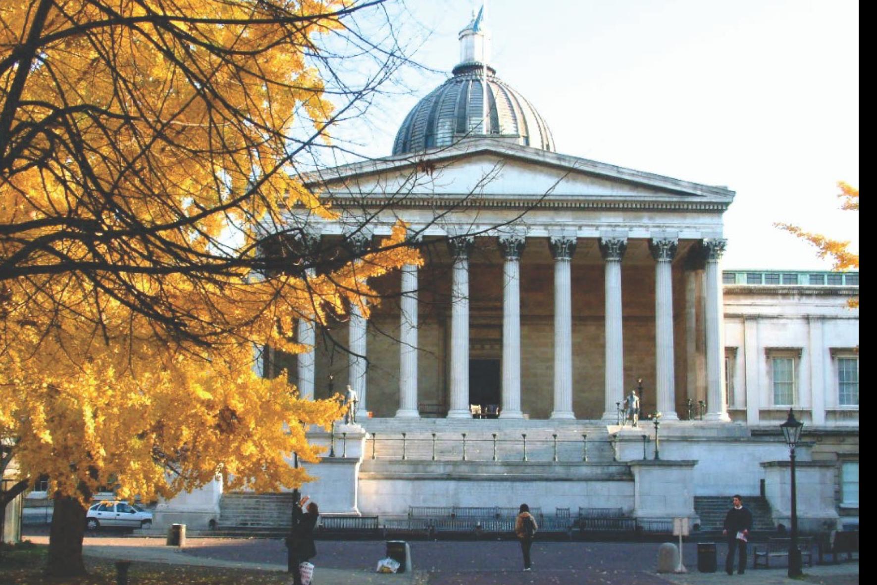 英國倫敦大學亞非學院(SOAS)發表指引,要求學者在課堂中不要錄影課堂內容,以避免師生到訪大陸和香港地區時觸犯國安法被捕。圖為倫敦大學學院。(倫敦大學Facebook)