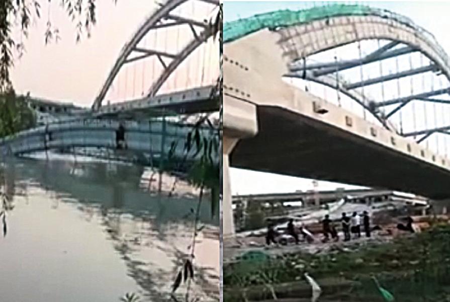 紹興最貴高速路橋未完工就塌