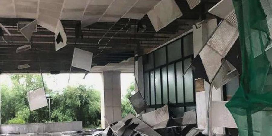 狂風暴雨突襲武漢  吊籃撞高樓致二人喪命
