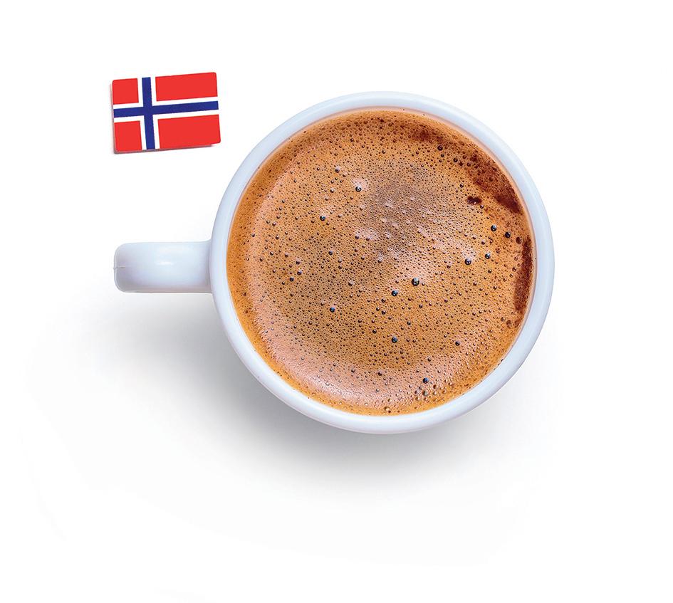 口感順滑的挪威雞蛋咖啡。