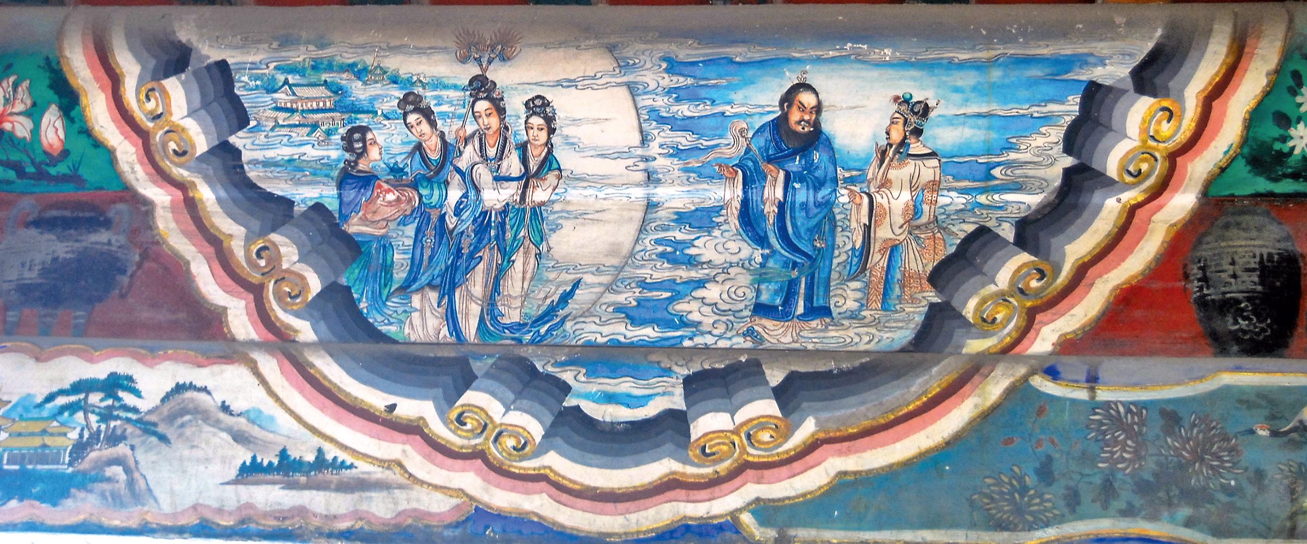 古今中外,許多著名的賢哲或詩人都曾有過類似於神遊八極、身臨太虛的超常經歷。圖為北京頤和園長廊彩繪:唐玄宗遊月宮(Shizhao/Wikimedia Commons)