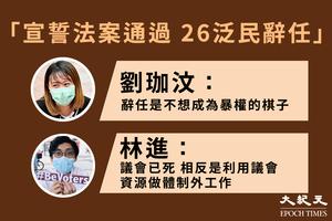 宣誓條例通過 30泛民辭職 區議員:不做暴權棋子
