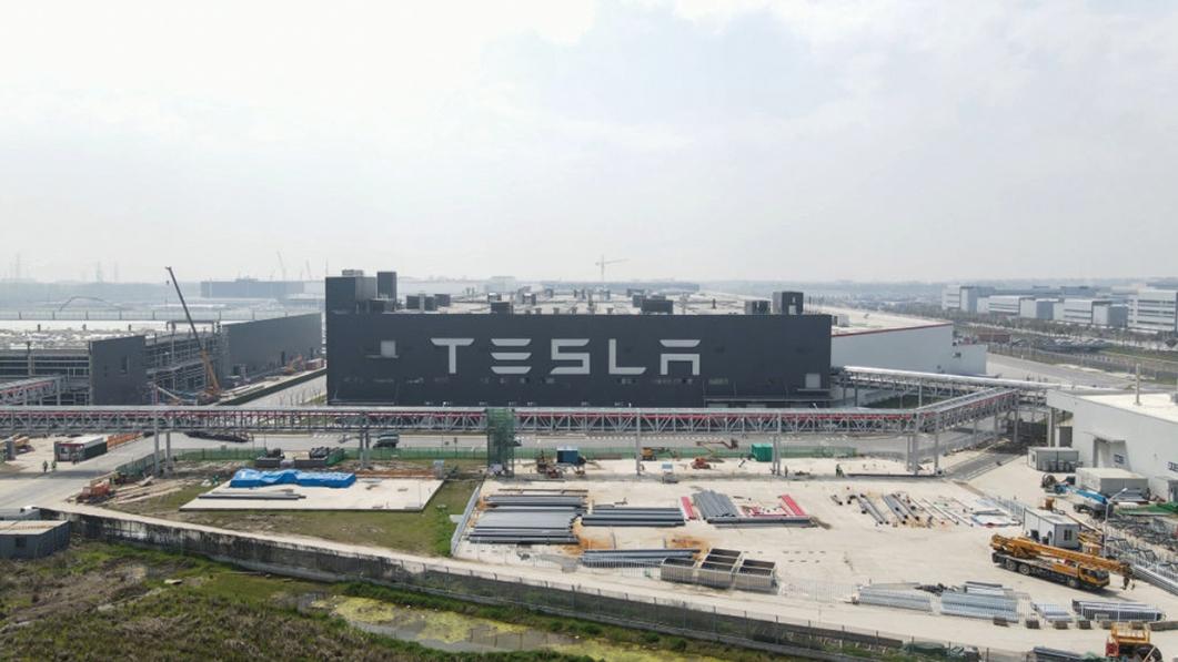 Tesla在上海建的超級工廠鳥瞰圖。(Xiaolu Chu/Getty Images)