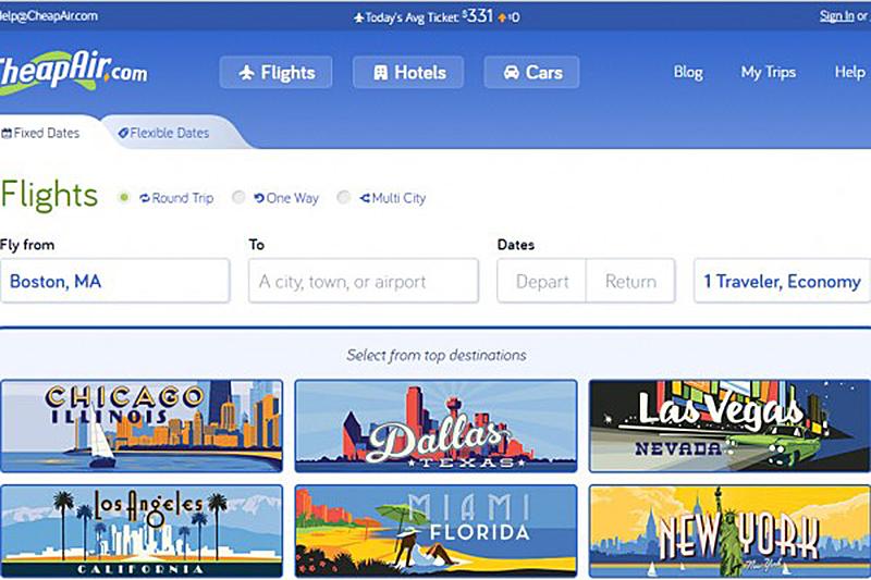 CheapAir.com為旅客推出分期付款買機票的新服務。旅客只要購買價值超過100美元的機票即可申請,符合條件者即可獲得3、6或12個月,利息10-30%的貸款購買機票。(CheapAir.com網站截圖)