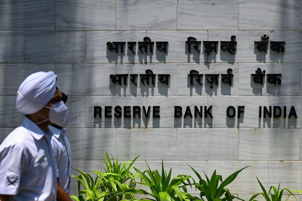 印度昨(5月14日)公佈外匯儲備按周增加0.25%至5,895億美元。(PUNIT PARANJPE/AFP via Getty Images)
