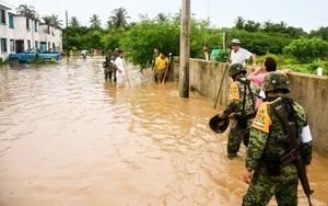 颶風牛頓在墨西哥引發洪水和山體滑坡