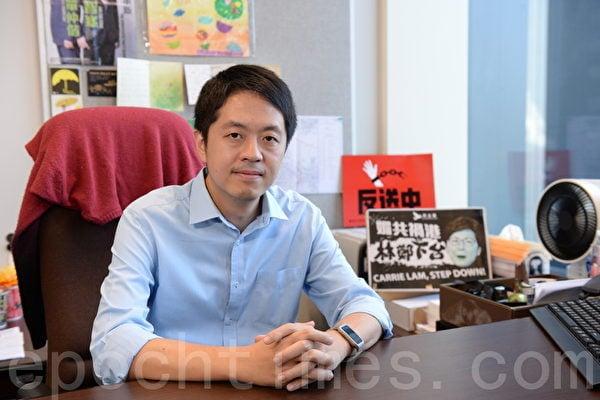 前香港島選區立法會議員許智峯。(珍言真語節目採訪圖片)