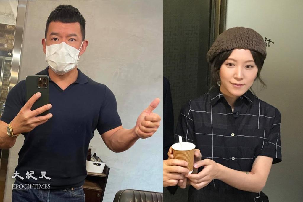 目前身在台灣的杜汶澤和蔣雅文,在社交平台呼籲大家齊心抗疫。(大紀元製圖)