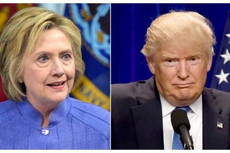 9月5日是美國勞工節,當天公佈的一項民調顯示,在創造就業問題上,美國民主黨總統候選人希拉莉已追上共和黨對手特朗普,兩人支持率均為44%。(DSK/AFP/Getty-Images)