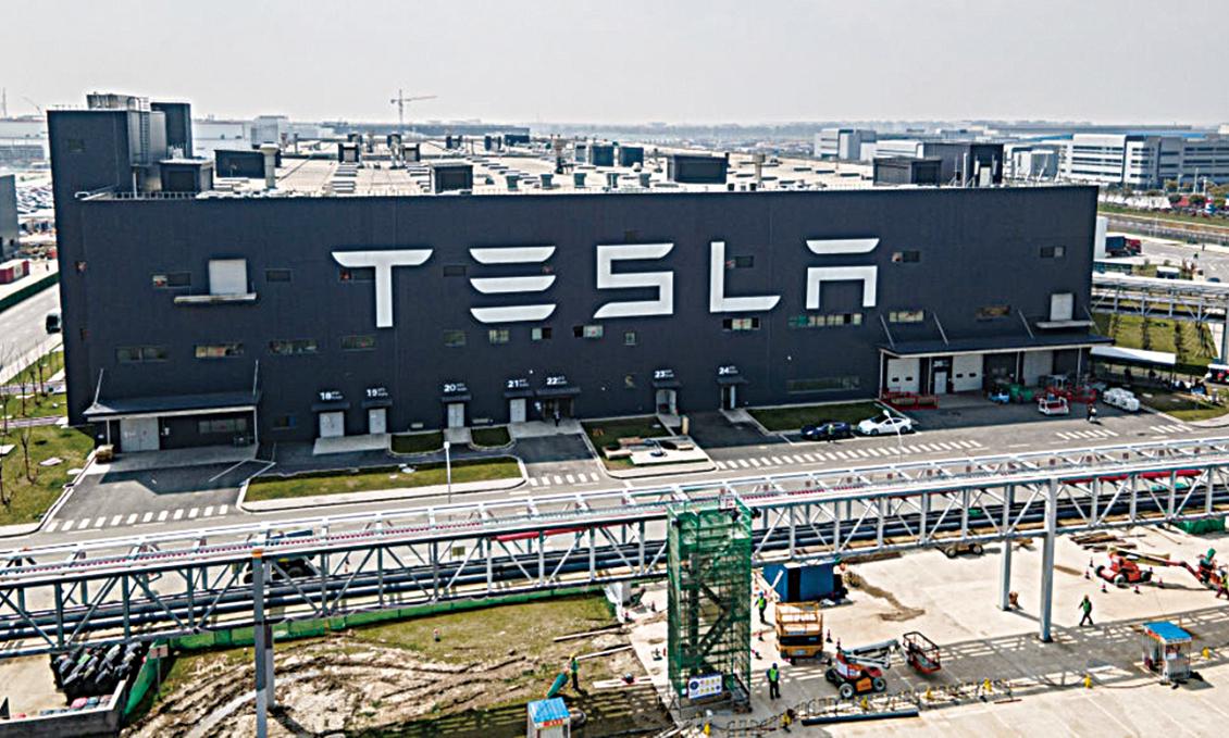 2021年3月29日,上海的Tesla超級工廠鳥瞰圖。(Xiaolu Chu/Getty Images)