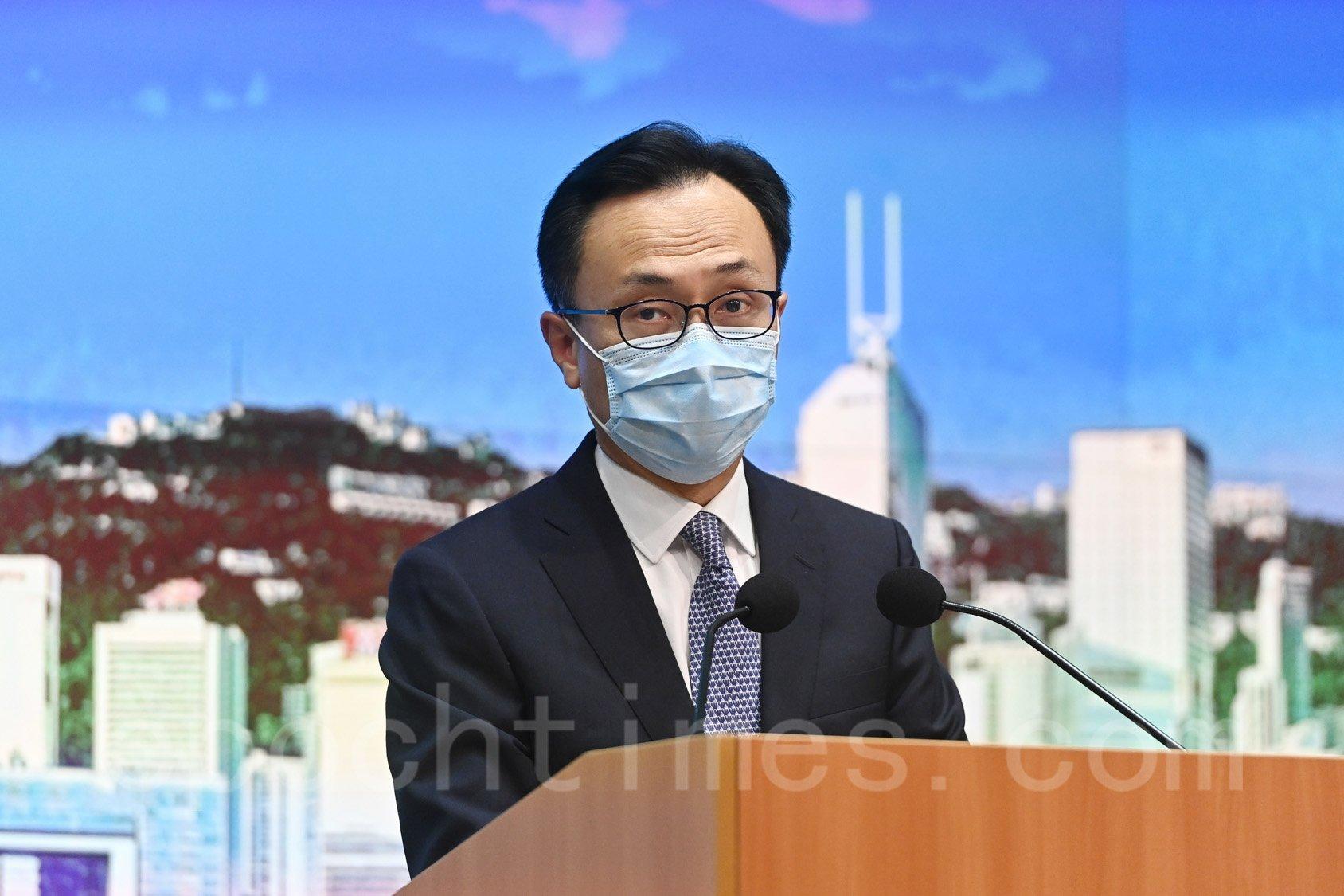 香港公務員事務局局長聶德權。(宋碧龍/大紀元)