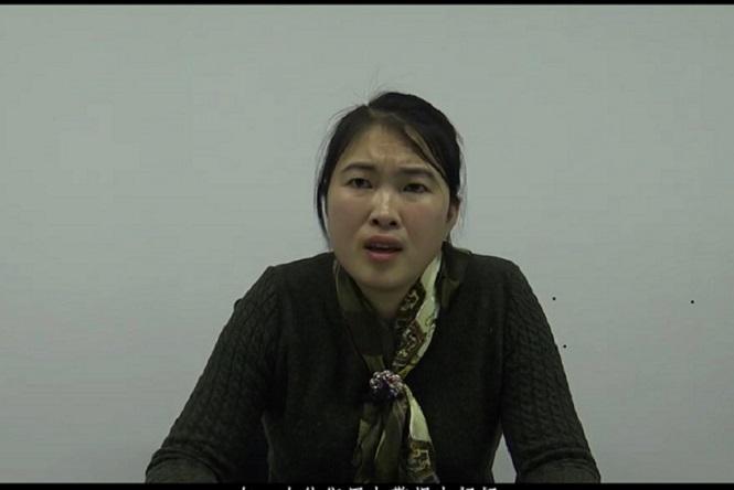 2018年12月,李寧講訴母親被冤死的疑點及警察違法經過。(受訪者提供)