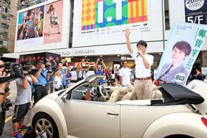 【圖片新聞】鄺俊宇街舞謝票「找數」