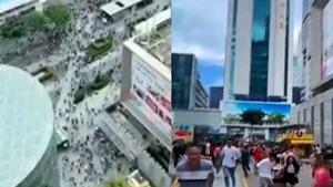 深圳七十五層大廈不明搖晃 上萬人逃離