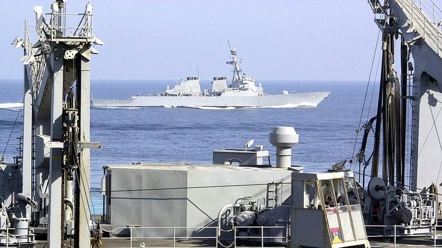 美艦高調穿越台海 中共「反對」