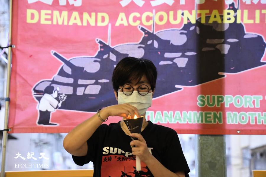 支聯會、職工盟等組織擺六四街站 籲延續抗爭