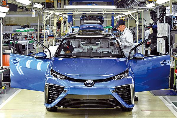 圖為豐田汽車的工廠。(TOSHIFUMI KITAMURA/AFP via Getty Images)