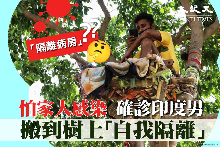 怕家人感染 確診印度男搬到樹上「自我隔離」