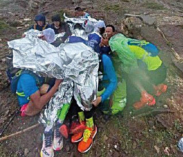 中國甘肅馬拉松賽突遇凍雨冰雹 已致21死