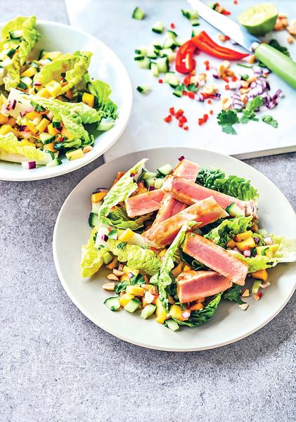炙烤三文魚扁豆沙律 營養減脂又飽足