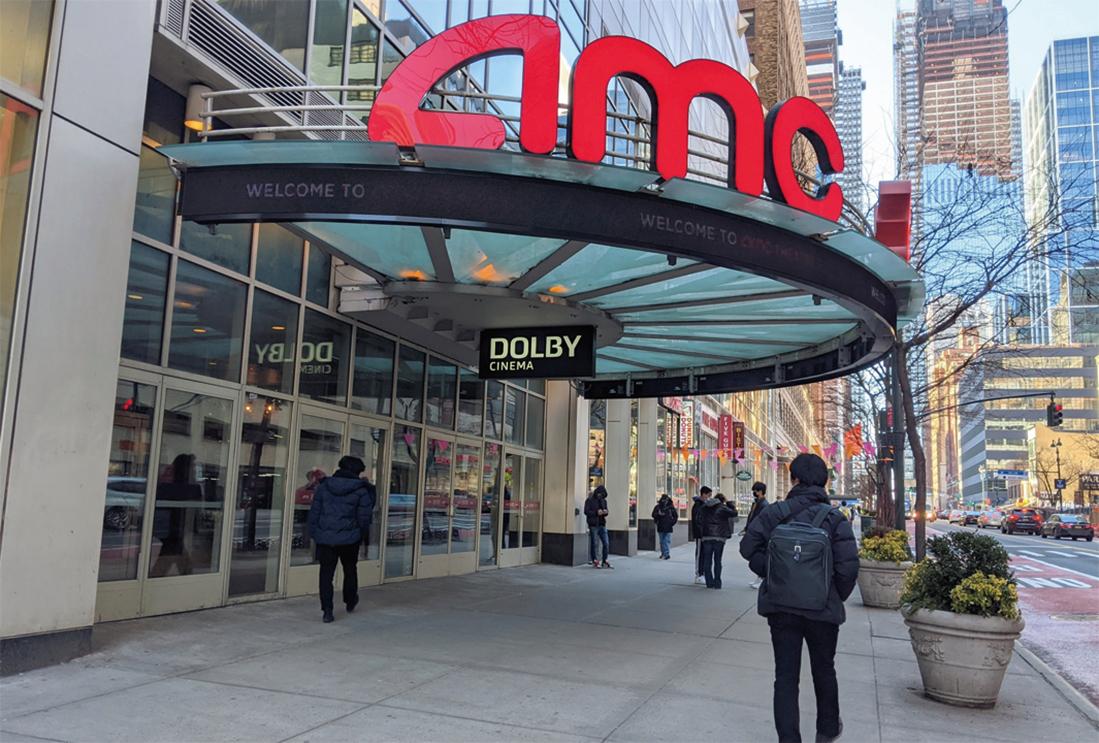 圖為曼哈頓中城一家AMC電影院。(黃小堂/大紀元)