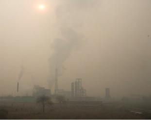 全球空氣污染很嚴重,如圖所示的中國空氣污染。(Getty Images)