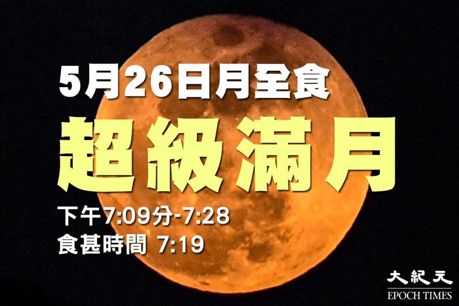 「超級血月」月全食明晚齊現 錯過再等12年