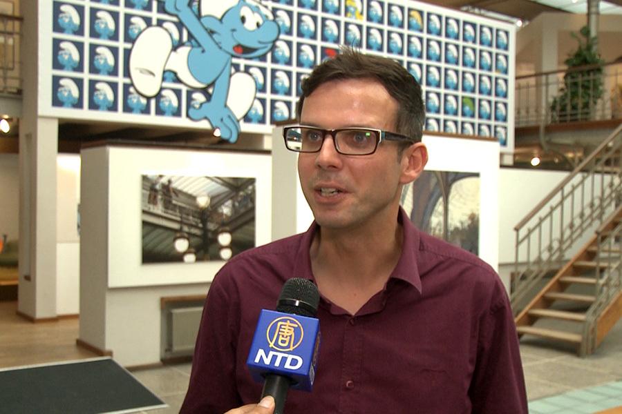 比利時漫畫藝術中心的主任Willem De Graeve。(新唐人)