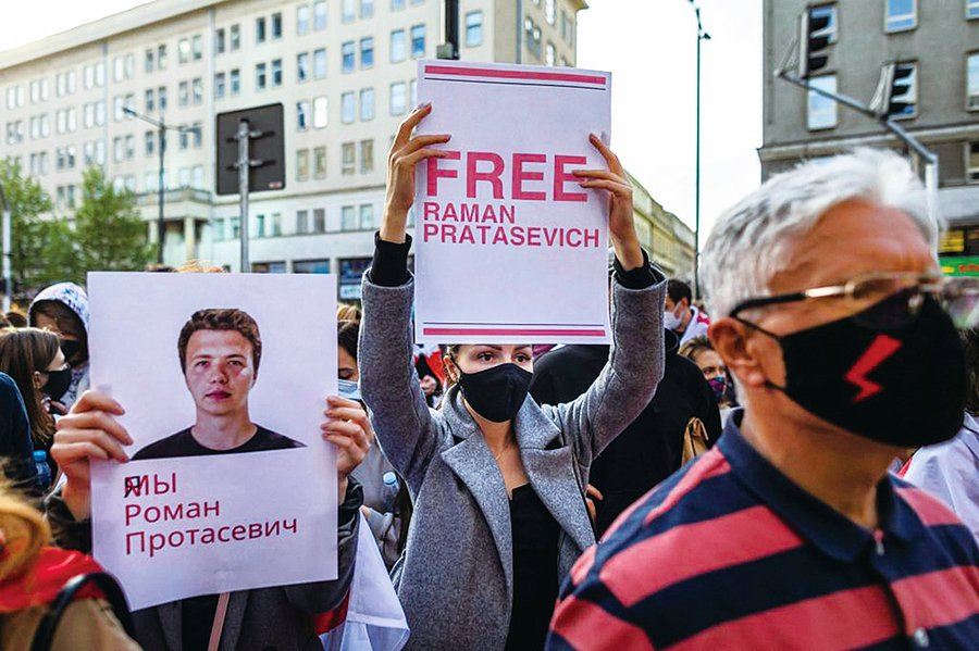 「劫機」行徑美批無恥 歐盟制裁白俄羅斯