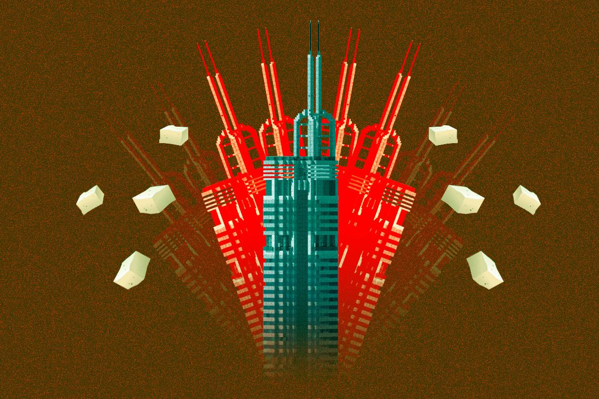 賽格搖晃,原來有三大原因,哪一個都和官方解釋無關?全球超高建築,爲何只有賽格用了一種特別工藝?2.7天一層的神話速度,隱藏著甚麼祕密?(大紀元製圖)