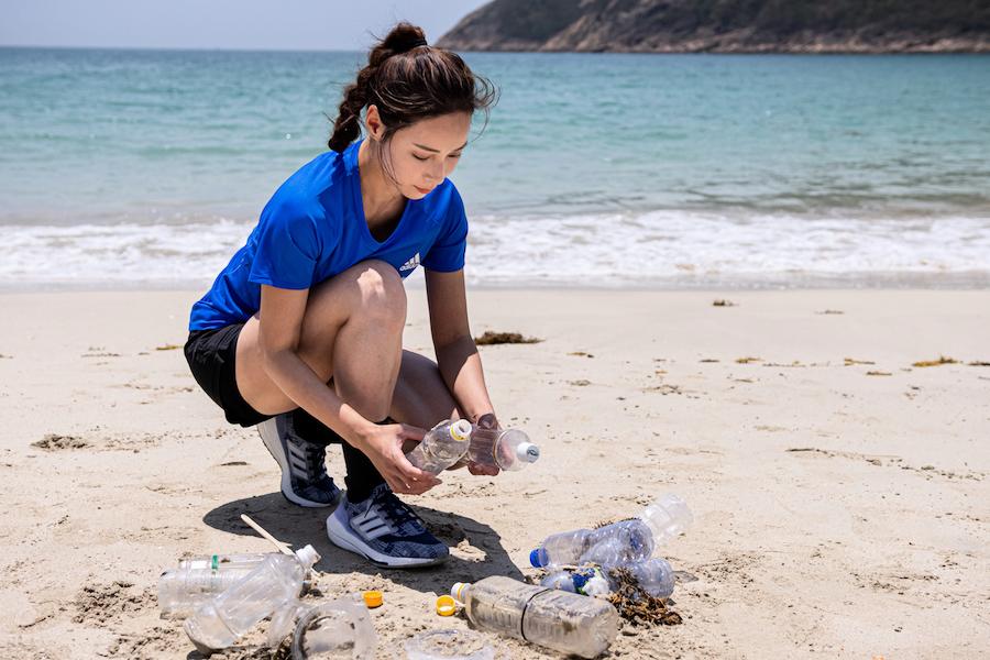余曉彤首次挑戰55公里環島跑 為海洋塑膠回收出力