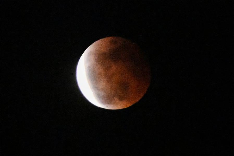 【圖片新聞】超級血月昨降臨