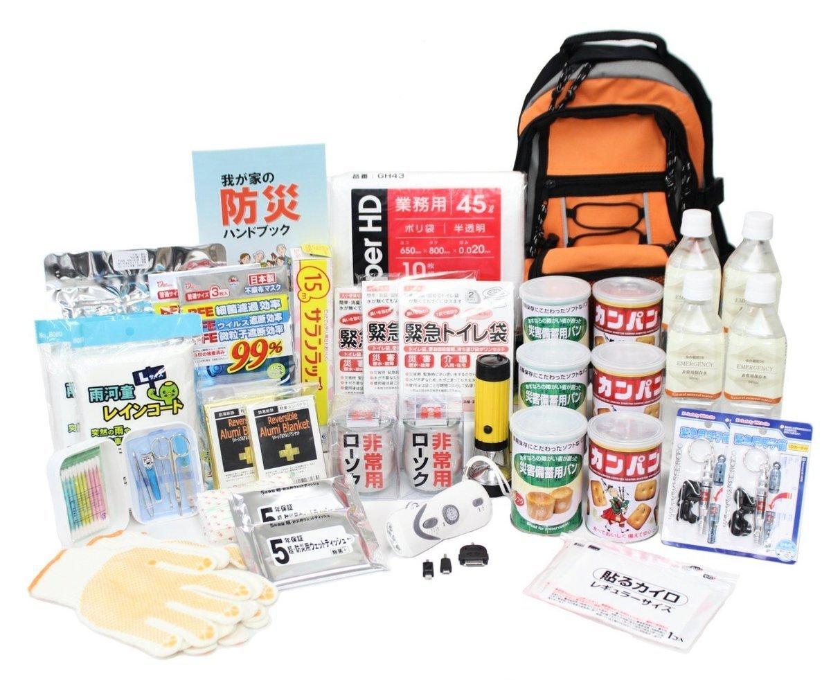 日本家庭中準備的防災用品。(網絡圖片)