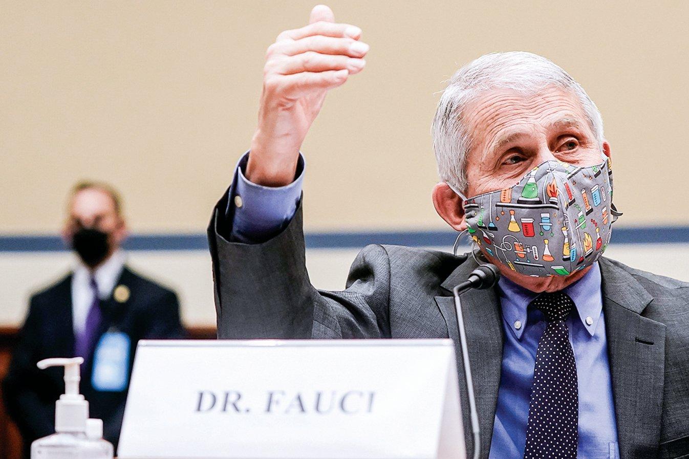 美國著名傳染病專家福西博士之前不認同「實驗室洩漏」說,最近卻改口,而且還支持對中國進行調查。(Getty Images)