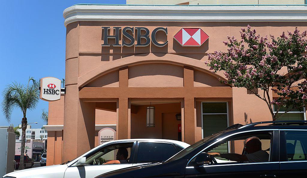 滙豐控股5月26日宣佈,將撤出美國零售及中小企業銀行市場。圖為滙豐位於美國加州洛杉磯的分行。(FREDERIC J. BROWN/AFP/GettyImages