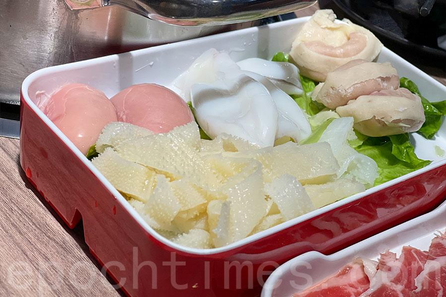牛柏葉、雞公子、墨魚、魚皮餃。(Siu Shan提供)