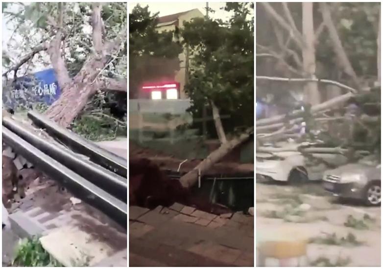 冰雹雷電大風席捲中國十三省