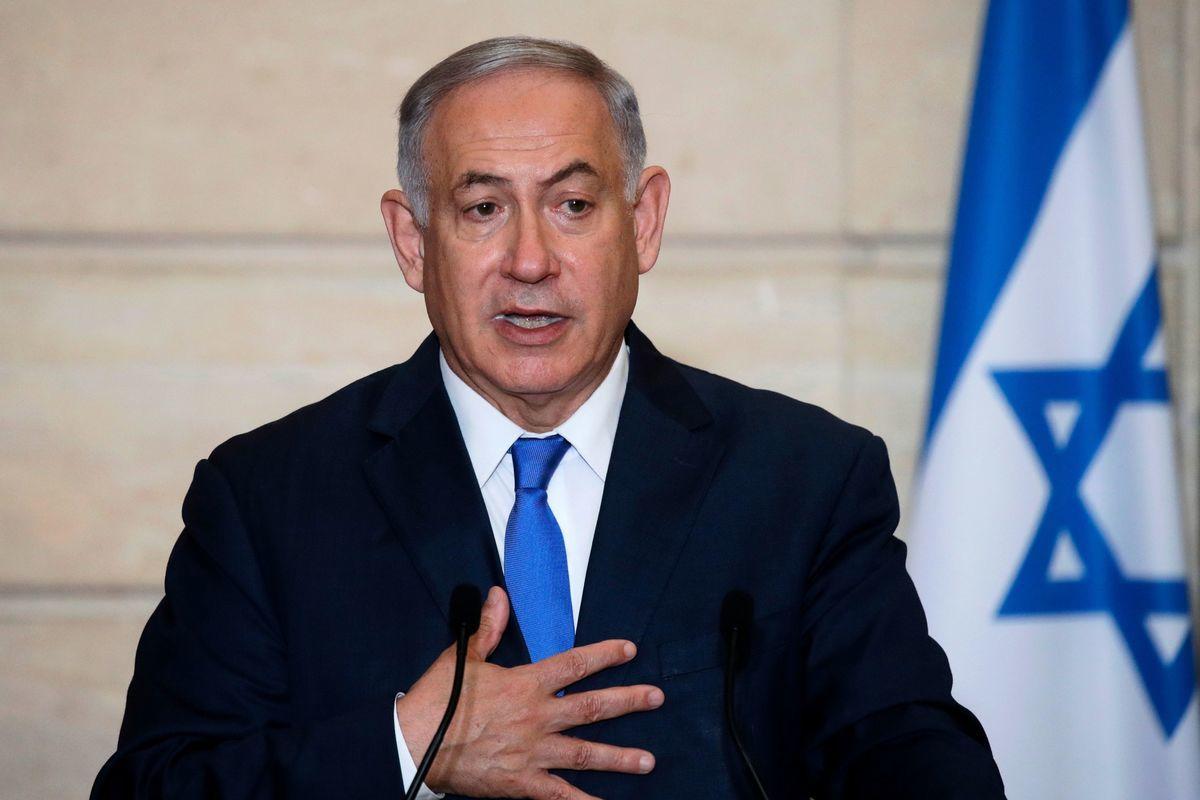 聯合國核監督機構負責人警告,伊朗生產的新一批濃縮鈾屬於可製造核炸彈等級。以色列總理內塔尼亞胡誓言殲滅伊朗核設施。圖為以色列總理。(PHILIPPE WOJAZER/AFP)