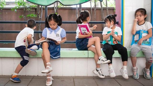 中國一所小學示意圖。(STR/AFP via Getty Images)