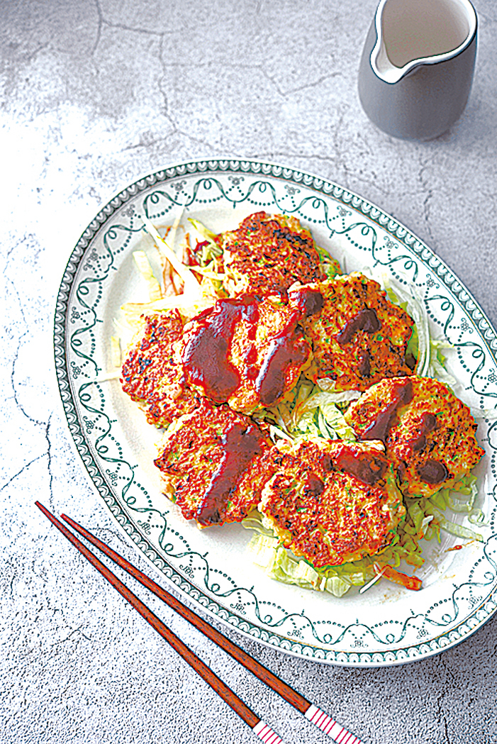 減醣料理 雞肉蔬菜煎餅